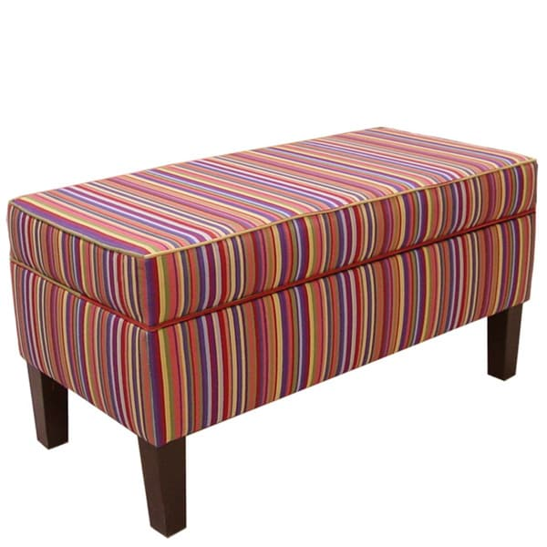 Made to Order Striped Storage Bench
