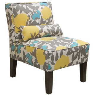Made to Order Floral Armless Chair
