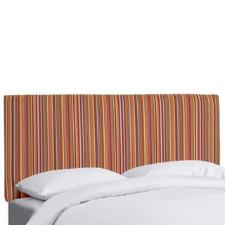 Made to Order Striped Upholstered Headboard