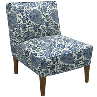 Made to Order Blue/ Cream Floral Armless Chair