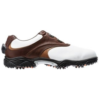 Footjoy Contour Boa Crown and Taupe Swept Back Saddle Golf Shoes