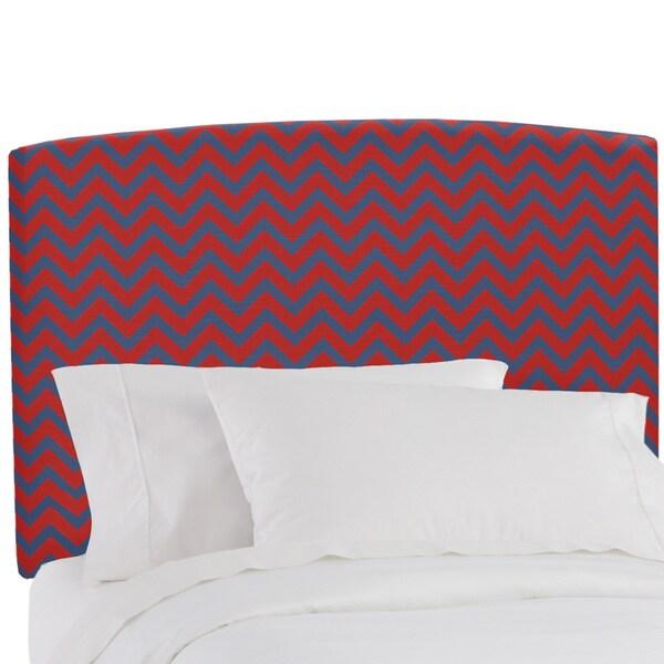 Skyline Furniture Upholstered Headboard in Zig Zag Red Blue 13117780