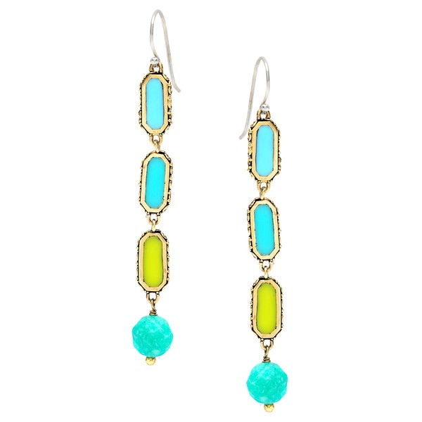Cabo Tricolor Drop Earrings 13117807
