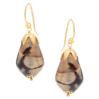 Safari Teardrop Hook Earrings