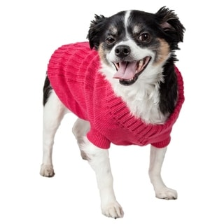 Pet Life Pink Collared Pet Sweater