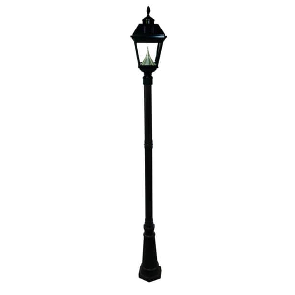 Gama Sonic GS-97S-GE Black Post Imperial Solar Lamp with 8 Bright-white LEDs