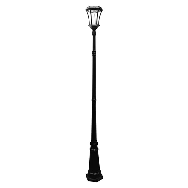 gama sonic gs52sg peking solar lamp post light with 8. Black Bedroom Furniture Sets. Home Design Ideas