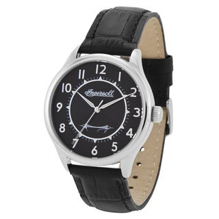 Ingersoll Men's 'Harry Clifton' Classic Black Leather Watch