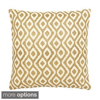 Gold/ White Tahiti Decorative Throw Pillow