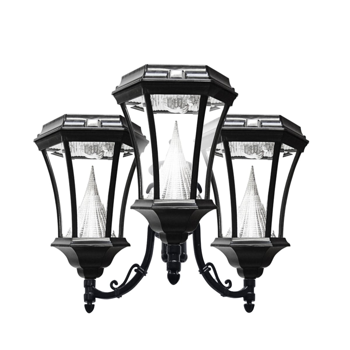Overstock.com Gama Sonic GS-94F3 Post Mount Victorian Light Fixture with 3 Solar 9-LED Lights at Sears.com