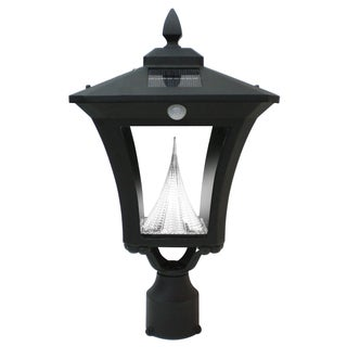 Gama Sonic GS-53FPW-PIR Weston Motion-sensing Solar Light with 6 Bright-white LEDs, Black Finish