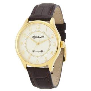 Ingersoll Men's 'Harry Clifton' Brown Leather Watch