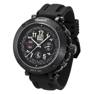 Ingersoll Men's 'Bison No. 1' Black Rubber Watch