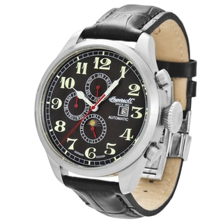 Ingersoll Men's 'Buffalo' Classic Black Leather Watch