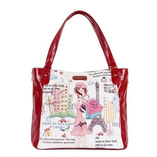 Nicole Lee 'Shopping Girl' Shopper Bag