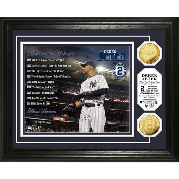 Derek Jeter Memorable Moments Gold Coin Photo Mint
