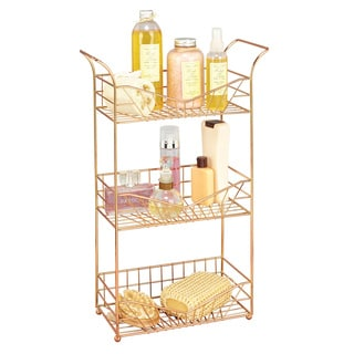 Sunrise Rose Gold 3-tier Bathroom Storage Rack