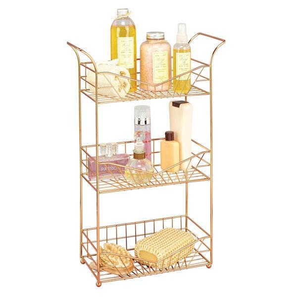 Sunrise rose gold 3 tier bathroom storage rack 16302852 overstock com shopping the best