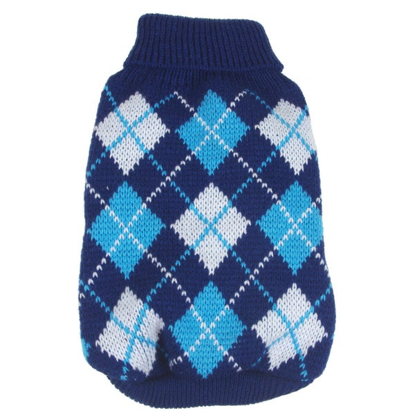 Argyle Ribbed Fashion Pet Sweater