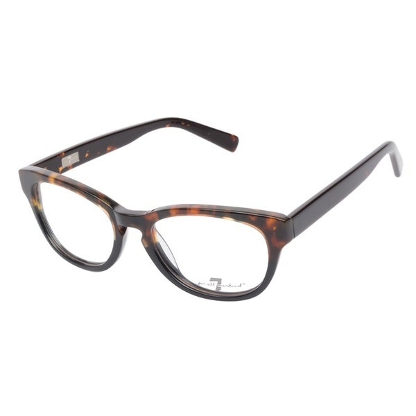 7 For All Mankind 772 Tortoise Black Prescription Eyeglasses