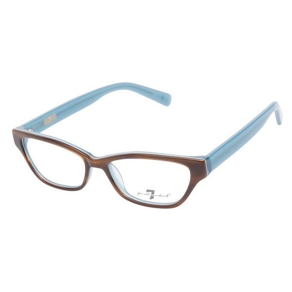 7 For All Mankind 779 Tortoise Blue Prescription Eyeglasses