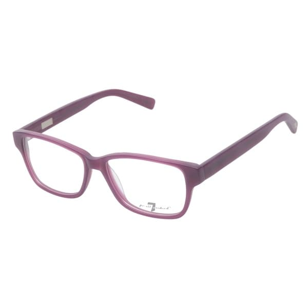 7 For All Mankind 770 Matte Purple Prescription Eyeglasses