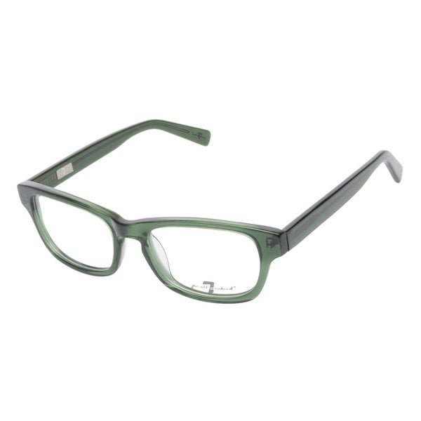 7 For All Mankind 775 Olive Crystal Prescription Eyeglasses