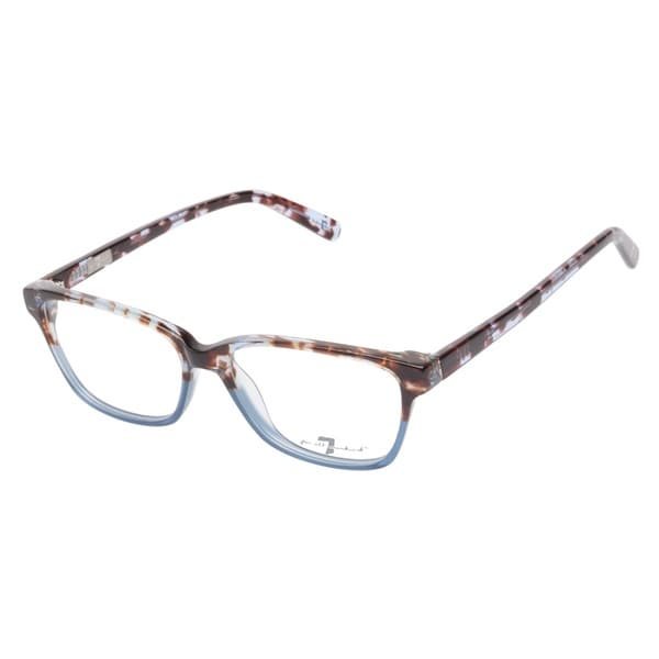7 For All Mankind 773 Tortoise Blue Prescription Eyeglasses