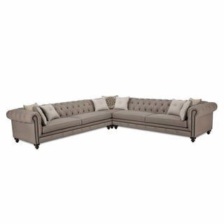 JAR Design Alphonse Grey Tufted Sectional