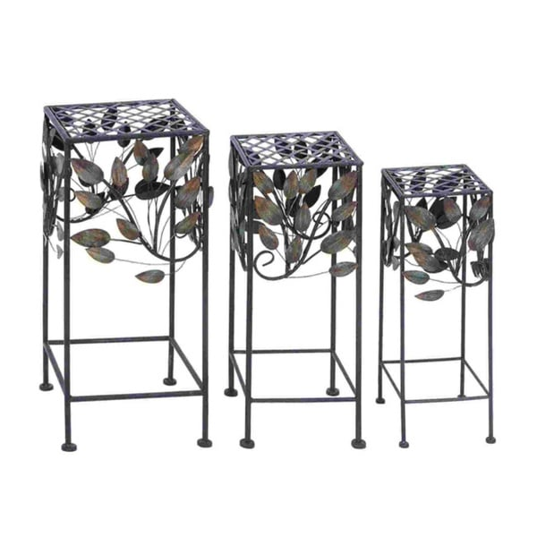 Durable Metal Plant Stand (Set of 3)