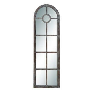 Brown Wood Arch Mirror