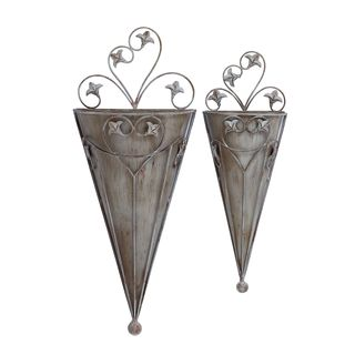 Cone Shaped Wall Planter (Set of 2)