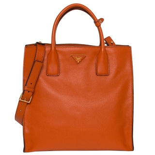 Prada Grained Calf Leather Tote