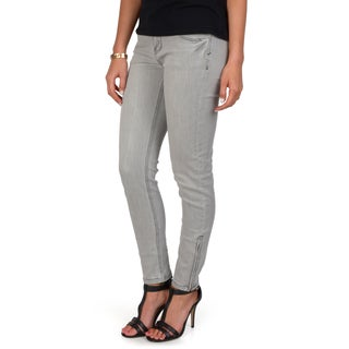 Hailey Jeans Co. Junior's Zippered Ankle Skinny Jeans