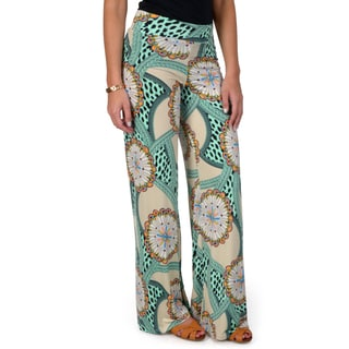 Hailey Jeans Co. Junior's Print Fold-over Palazzo Pants