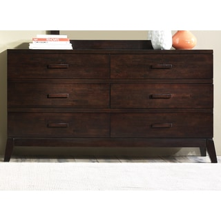 Liberty Franklin Merlot 6-Drawer Dresser