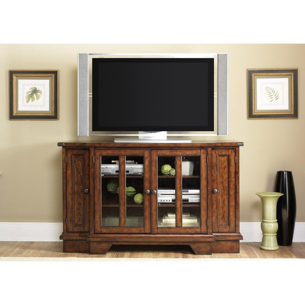 Bistro Brown Wood TV Console