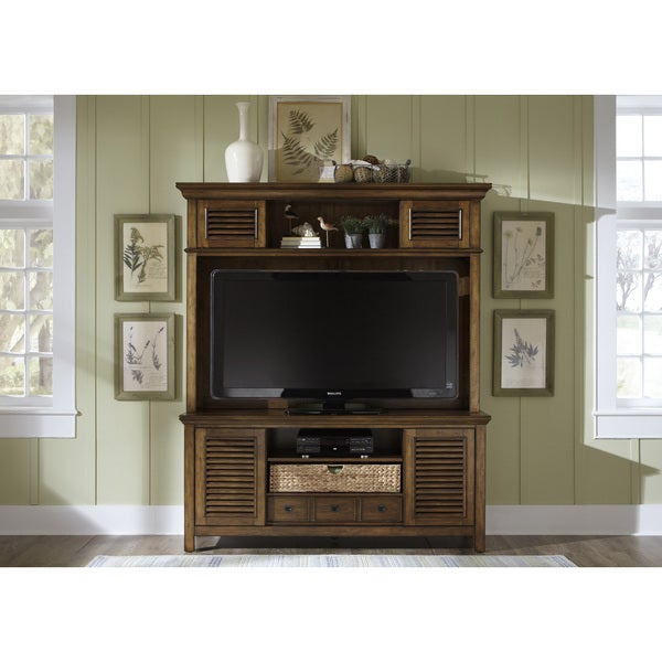 Tobacco Cottage 2-piece Entertainment Center