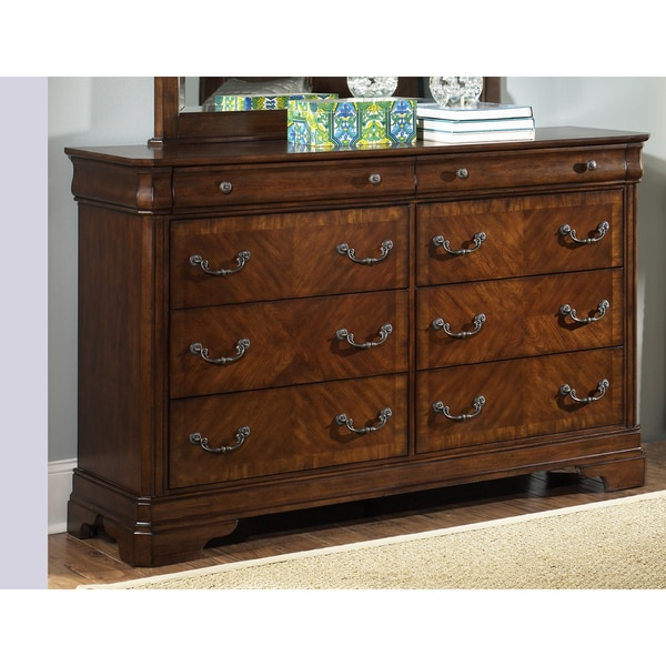Liberty Autumn Brown 8-drawer Dresser