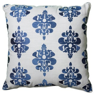 "LNR Home Indira White Decrative 18"" Accent Throw Pillow (Set of 2)"