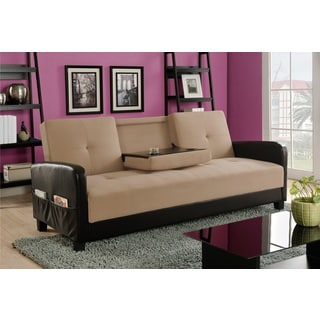 Holden Cupholder Futon Sofa Bed with Magazine Storage