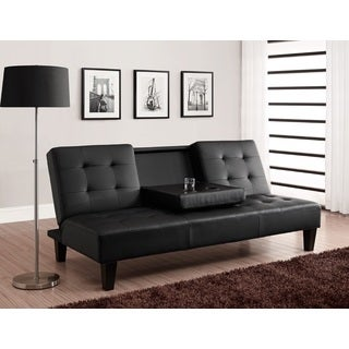 Julia Cup Holder Convertible Futon Sofa Bed