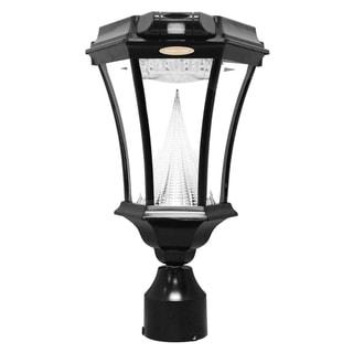 Gama Sonic GS-94FPW-PIR Black Victorian Motion-sensing Solar Light with 9 Bright-white LEDs