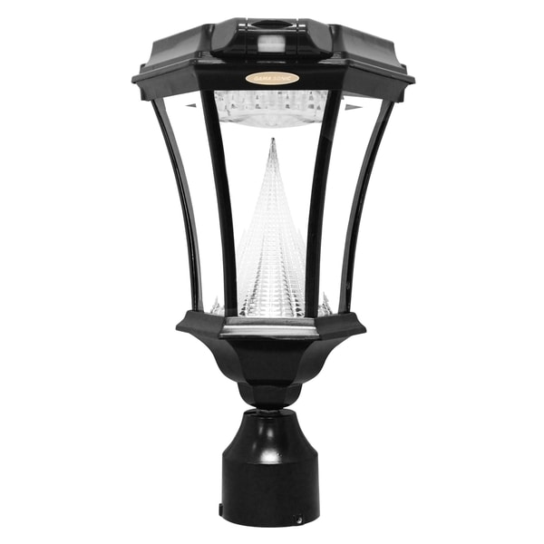 Gama Sonic GS-94FPW-PIR Black Victorian Motion-sensing Solar Light with 9 Bright-white LEDs