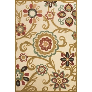 Grand Bazaar Power Loomed Polypropylene Uttur Rug in Sand / Light Gold 5' X 7'-6""