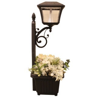 Gama Sonic GS-111PL Plantern Garden Light with 4 Bright-white LEDs