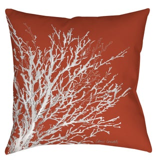 Coastal Coral Indoor/Outdoor 19-inch Pillow (Set of 2)
