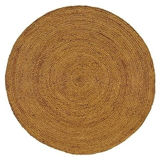Celebration Jute 8-feet Braided Hand Woven Round Rug