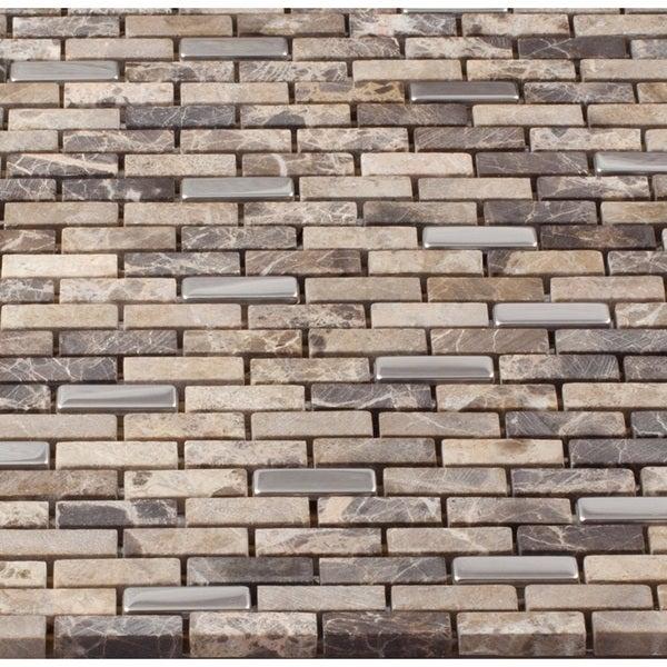 martini mosaic muro roman stone 12x12 tile sheets set of