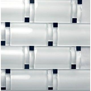 Martini Mosaic Bellagio White Blocco Wave (Set of 5 Sheets)